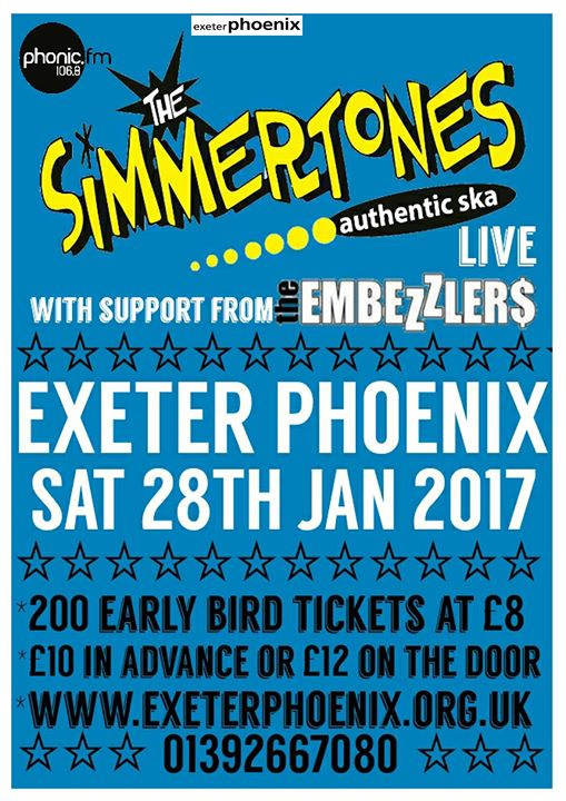 The Simmertones and The Embezzlers at Exeter Phoenix